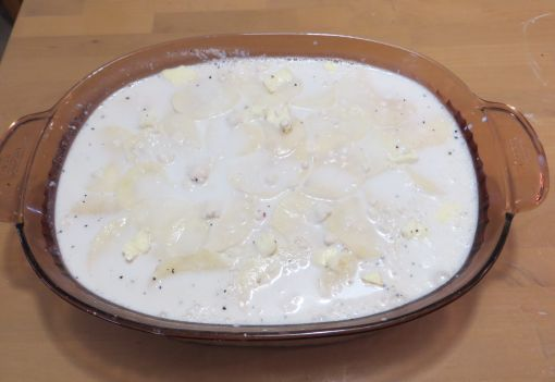 Scalloped Potatoes with Milk Added