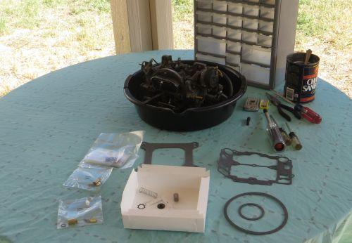Bronco carburetor rebuild kit and components