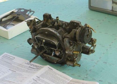 Bronco carburetor disassembly begins
