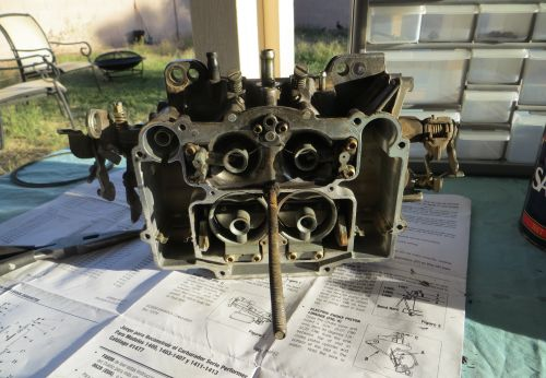Bronco carburetor with floats removed
