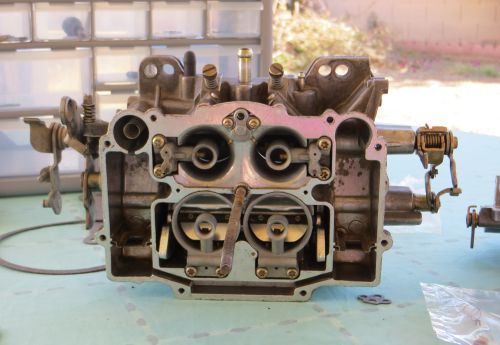 Bronco carburetor after Venturi tubes cleaned and reinstalled