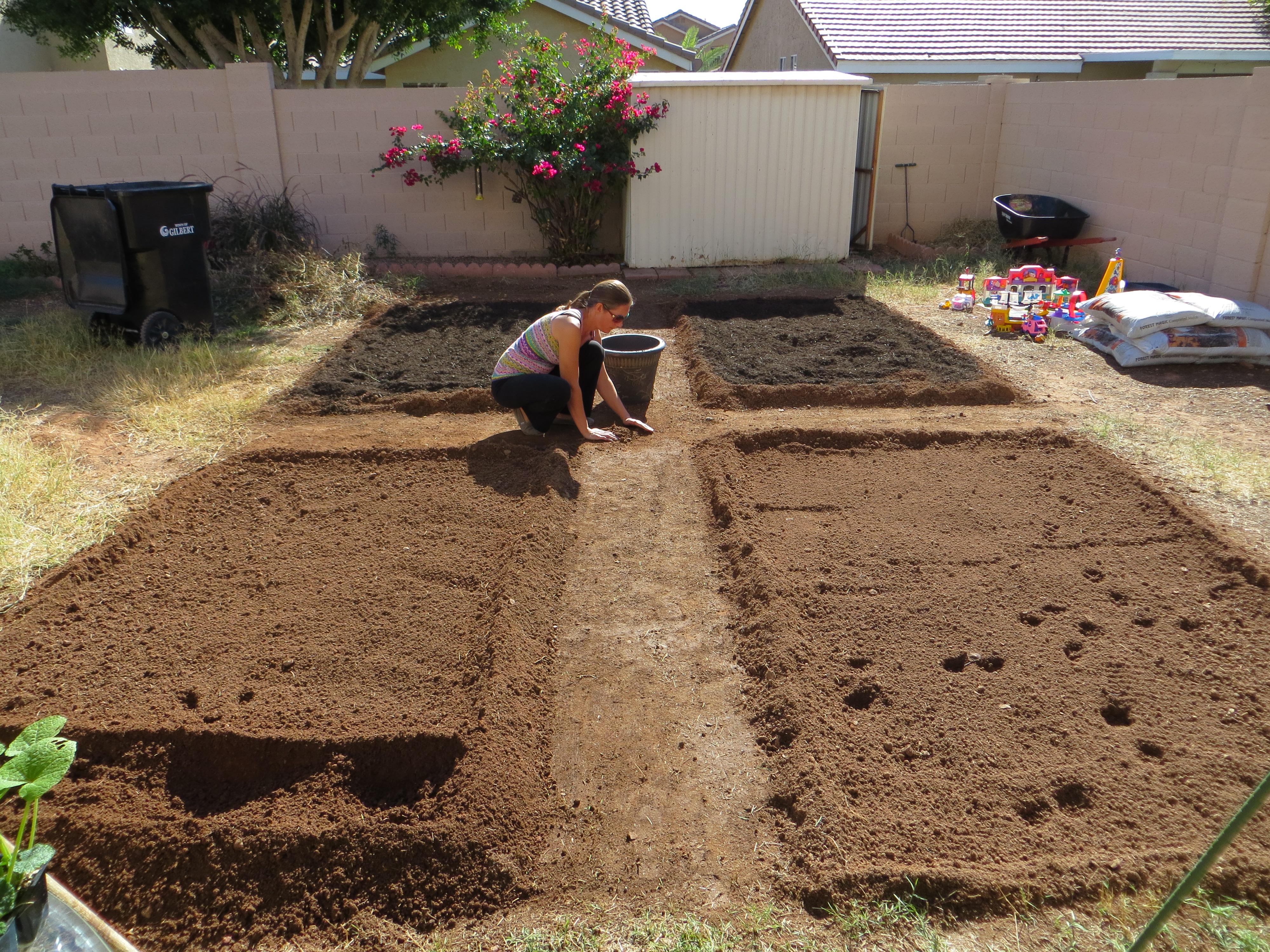 how to build backyard garden beds